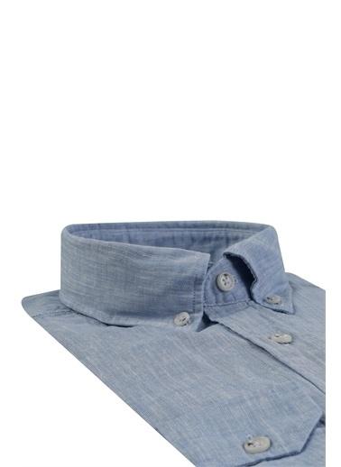 Damat Comfort Düz Gömlek Mavi